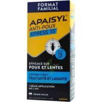 Apaisyl Anti-poux Xpress 15' Lotion Antipoux Et Lente 200ml+peigne à Lyon